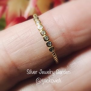 Yellow Gold Plated Sterling Silver Stackable Ring